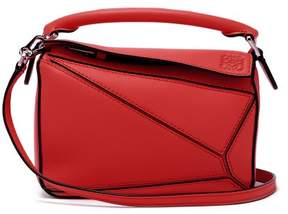 Loewe Puzzle Mini Grained Leather Cross Body Bag - Womens - Red