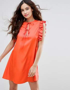 Fashion Union Ruffle Sleeve Dress
