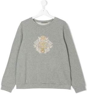 Ermanno Scervino crest embroidered sweatshirt