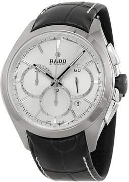 Rado Hyperchrome Automatic Silver Dial Black Leather Men's Watch