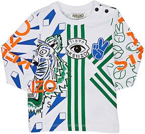 Kenzo Infants' Tiger- & Logo-Graphic Cotton Long-Sleeve T-Shirt