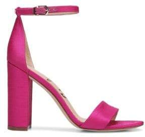 Sam Edelman Yaro Ankle-Strap Silk Sandals