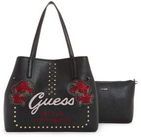GUESS Vikky Embroidered Tote Set
