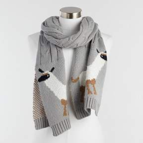 World Market Gray Cable Knit Llama Scarf