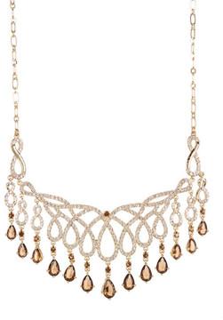Carolee Teardrop Fringe Openwork Frontal Necklace
