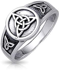 Celtic Bling Jewelry Triquetra Knot Sterling Silver Ring.