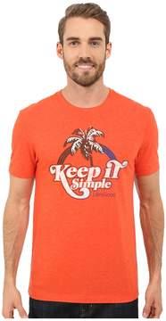 Life is Good Keep It Simple Rainbow Palm Cool Tee Men's T Shirt
