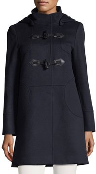 Cinzia Rocca Long Hooded Toggle Jacket