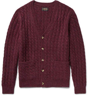 Beams Cable-Knit Mélange Wool Cardigan