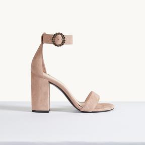 Maje Suede heeled sandals