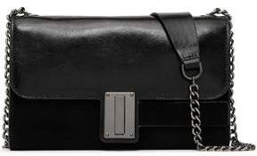 Halston Textured-Leather And Suede Shoulder Bag