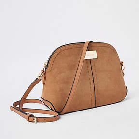 River Island Light brown kettle cross body bag