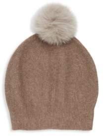La Fiorentina Cashmere Natural Fox Cap