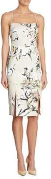Black Halo Robinson Floral-Print Sheath Dress