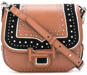 Tod's Double T studded shoulder bag