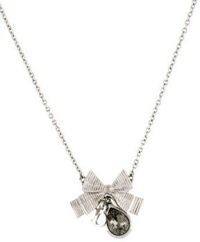 Christian Dior Crystal Bow Pendant Necklace