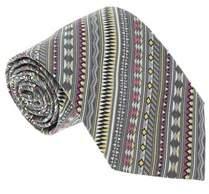 Missoni U5326 Gray/green Geometric 100% Silk Tie.
