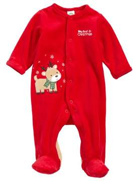 Little Me Infant Boy's Reindeer Footie