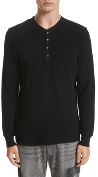 Ovadia & Sons Men's Long Sleeve Wool Henley