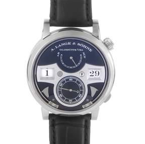 A. Lange & Söhne A. Lange and Sohne Zeitwerk Striking Time 145.029 18K White Gold 44.2 Mens Watch