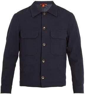 Barena VENEZIA Pocket-detail gingham cotton-blend jacket