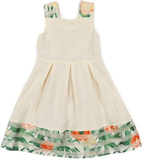 Appaman Girls' Fauna Ivory Shimmer Dress