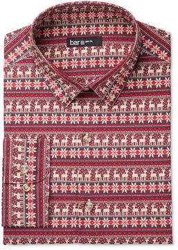 Bar III Men's Slim-Fit Oh Deer! Print Dress Shirt, Created for Macy's