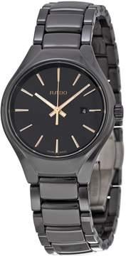Rado Black Dial Black Ceramic Ladies Watch