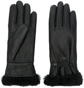 Agnelle rabbit fur trim gloves