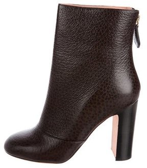 Rochas Embossed Leather Ankle Boots w/ Tags