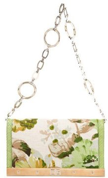 Dolce & Gabbana Snakeskin-Trimmed Jacquard Bag - GREEN - STYLE