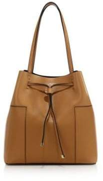 Tory Burch Block Leather Bucket Bag