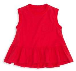 Hudson Girl's Flounce Cotton Pocket Tank Top