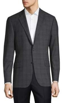 Hickey Freeman Milburn II Checkered Wool Jacket