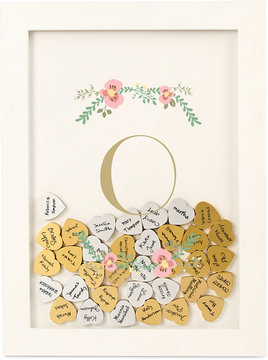 Cathy's Concepts Personalized Floral Heart-Drop Guestbook