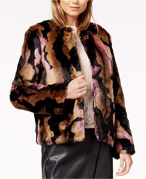 Bar III Faux-Fur Coat, Created for Macy's