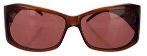 Roberto Cavalli Embellished Tinted Sunglasses