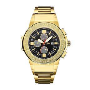 JBW Men's Saxon 0.16 ctw Diamond 18k gold-plated stainless-steel Watch JB-6101-J