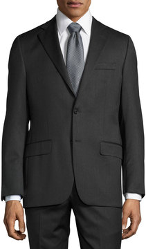 Hickey Freeman Classic-Fit Two-Button Suit, Charcoal