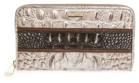 Brahmin Women's Suri Leather Zip Around Wallet - Brown