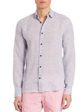 Orlebar Brown Morton Linen Button-Down Shirt