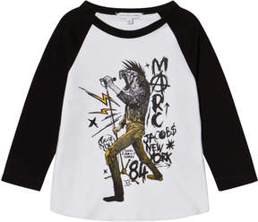 Little Marc Jacobs Black and White Animal Rocker Print Tee