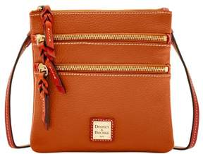 Dooney & Bourke Pebble Triple Zip Crossbody Shoulder Bag - CARAMEL - STYLE