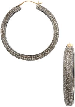Amrapali Women's 14K Yellow Gold & 8.75 Total Ct. Diamond Hoop Earrings