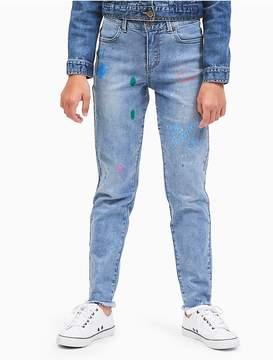 Calvin Klein Jeans Girls Boyfriend Fit Splatter Jeans