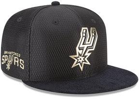 New Era San Antonio Spurs On-Court Black Gold Collection 9FIFTY Snapback Cap