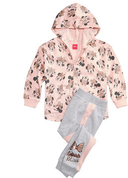 Disney 2-Pc. Minnie Mouse Hoodie & Jogger Pants Set, Toddler Girls (2T-5T)