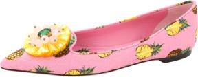 DOLCE & GABBANA Pineapple Jeweled Toe Skimmer