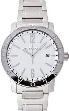Bvlgari Off White Dial Stainless Steel Automatic Men's Watch