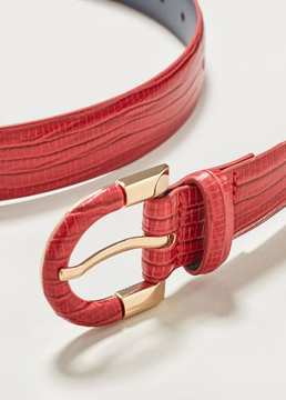 Violeta BY MANGO Snake-effect belt